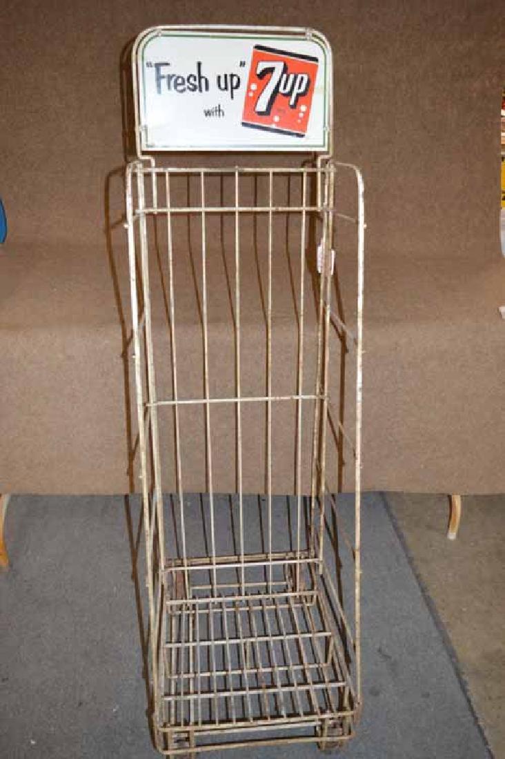 Tru Ade & 7up Display Rack on Wheels