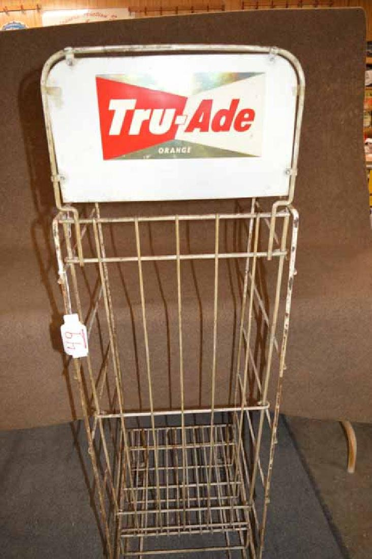 Tru Ade & 7up Display Rack on Wheels - 2