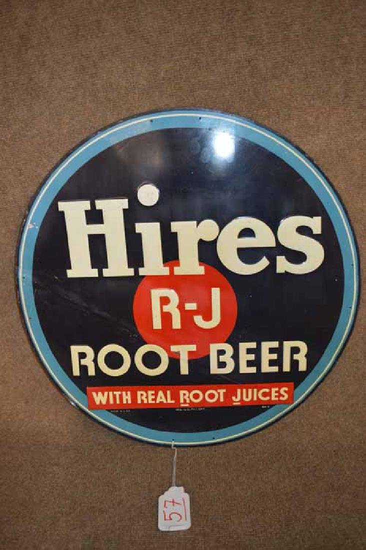 Hires Root Beer Round Tin Sign