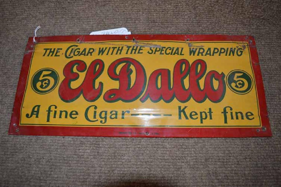 Tin El Dallo Cigars Sign
