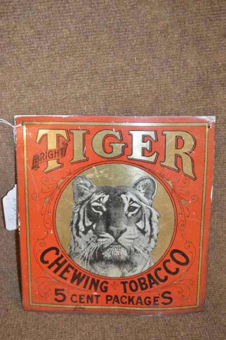 Tin Tiger Chewing Tobacco Square Sign - 2