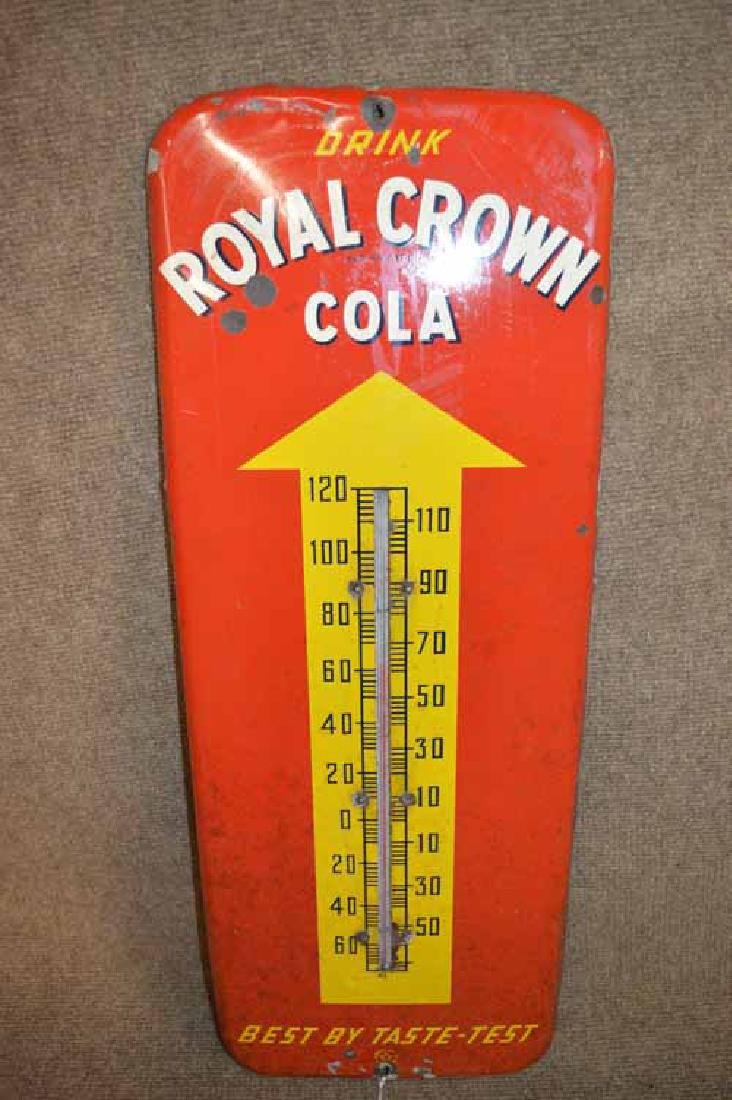 Royal Crown Cola Tin Thermometer