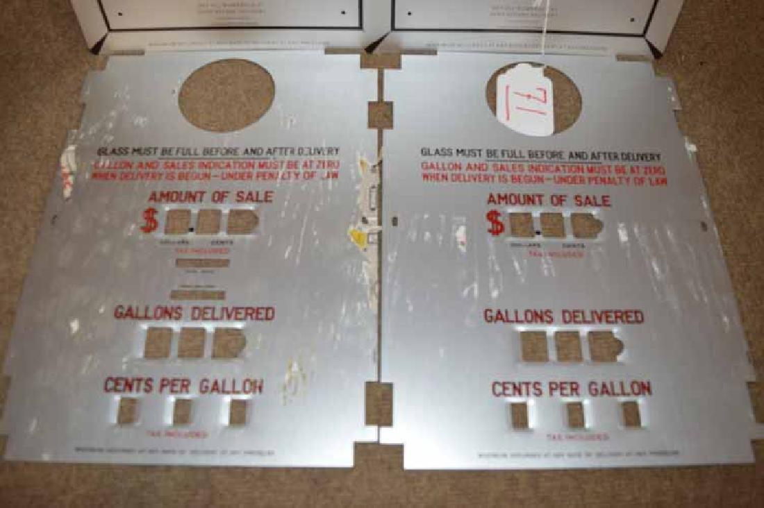 (4) NOS Tokheim Gas Pump Aluminum Faces - 2