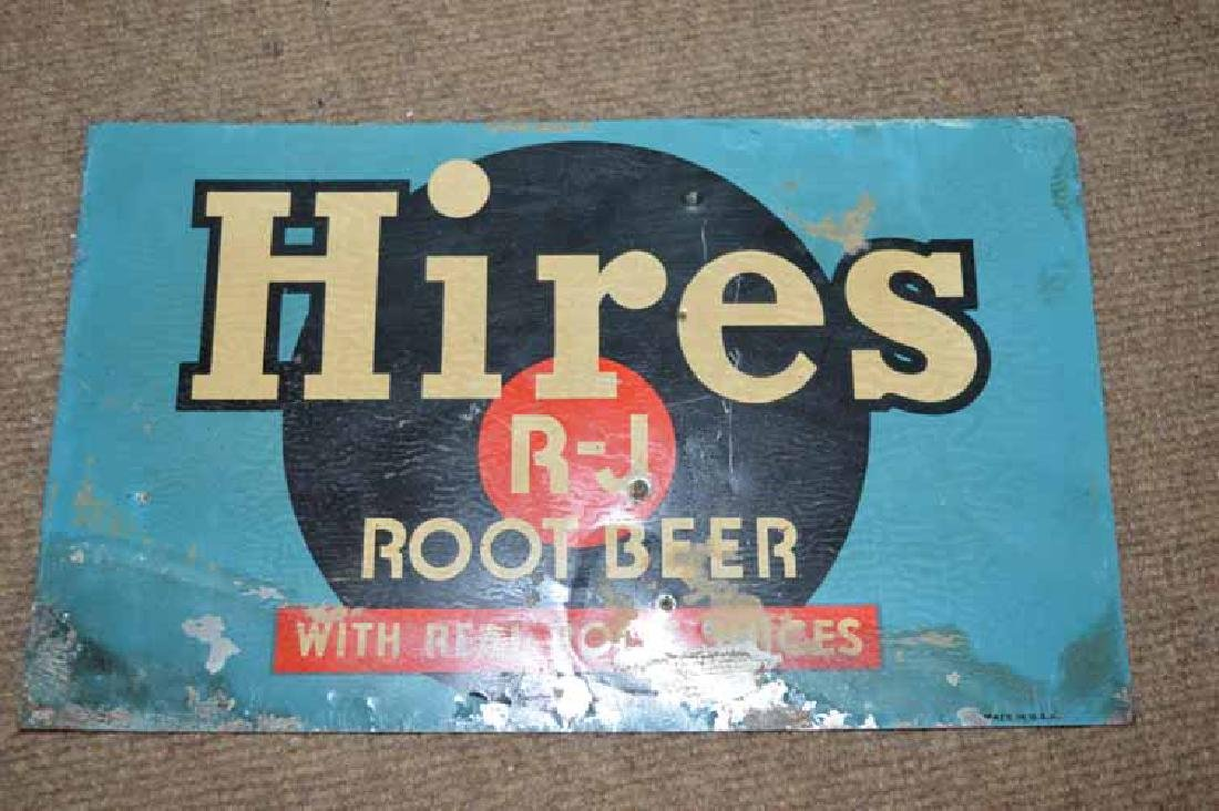 Hires R-J Root Beer Tin Sign