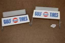 (2) Tin Gulf Tire Display Racks