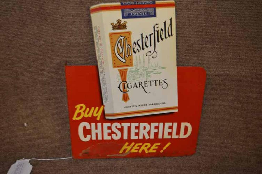 Chesterfield & L&M Cigarettes Double Sided Tin Flange - 2
