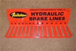 Tin Fairview Brake Lines Display Rack