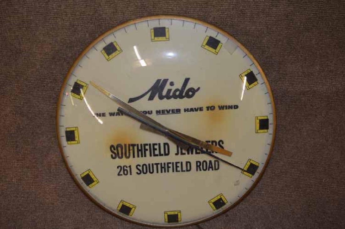 Mido Southfield Jewelers Advertizing Clock