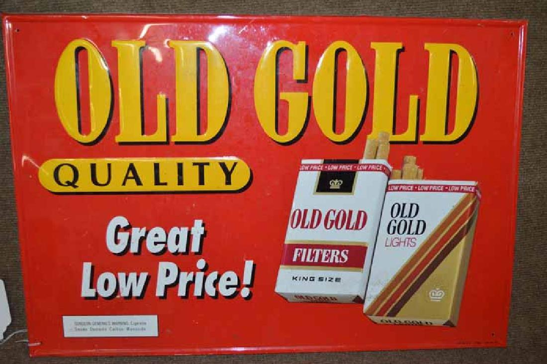 Old Gold Cigarette Tin Sign