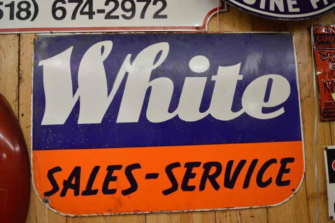 White Sales-Service Pocelain Sign