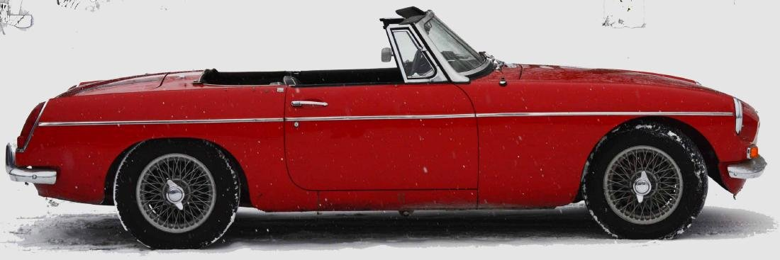 Red 1968  MGB Convertible Car
