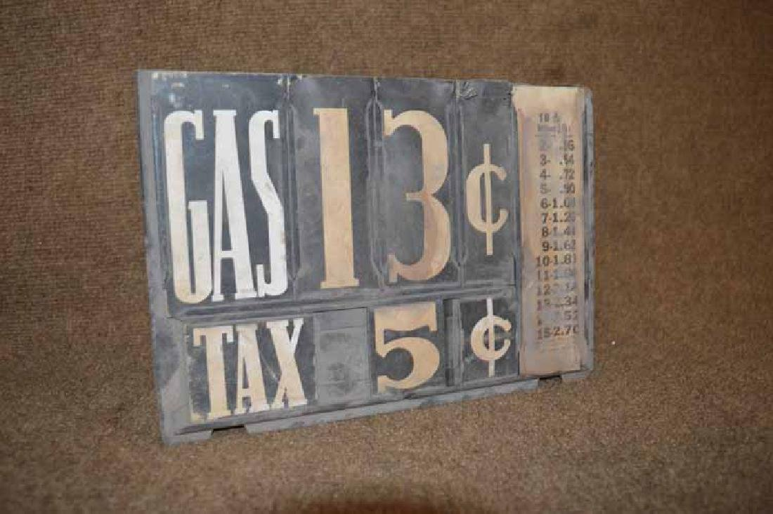 Gas Pump Cardboard Price Signs - 2