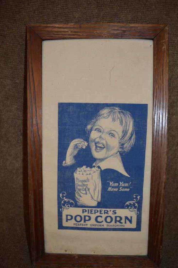 "Pieper""s Pop Corn Cloth Advertizing Bag"