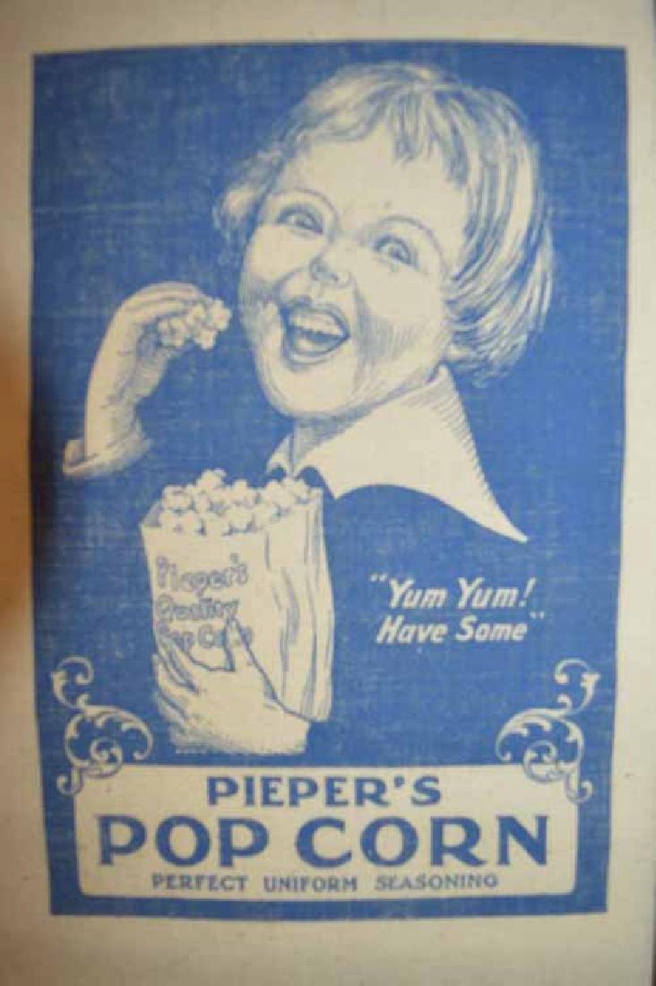 "Pieper""s Pop Corn Cloth Advertizing Bag - 2"