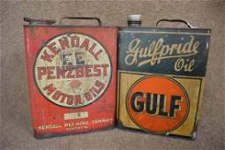 (2)  One Gal. Oil Can (Kendall Penzbest Motor Oil &