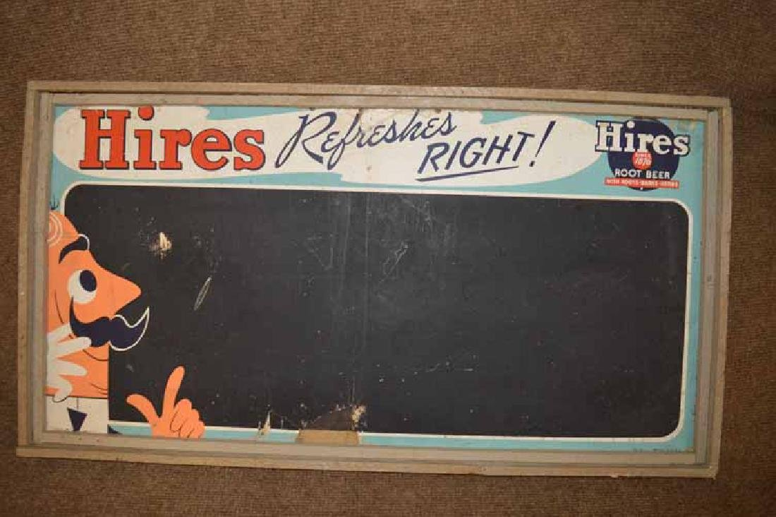 Hires Refreshes Chalk Board