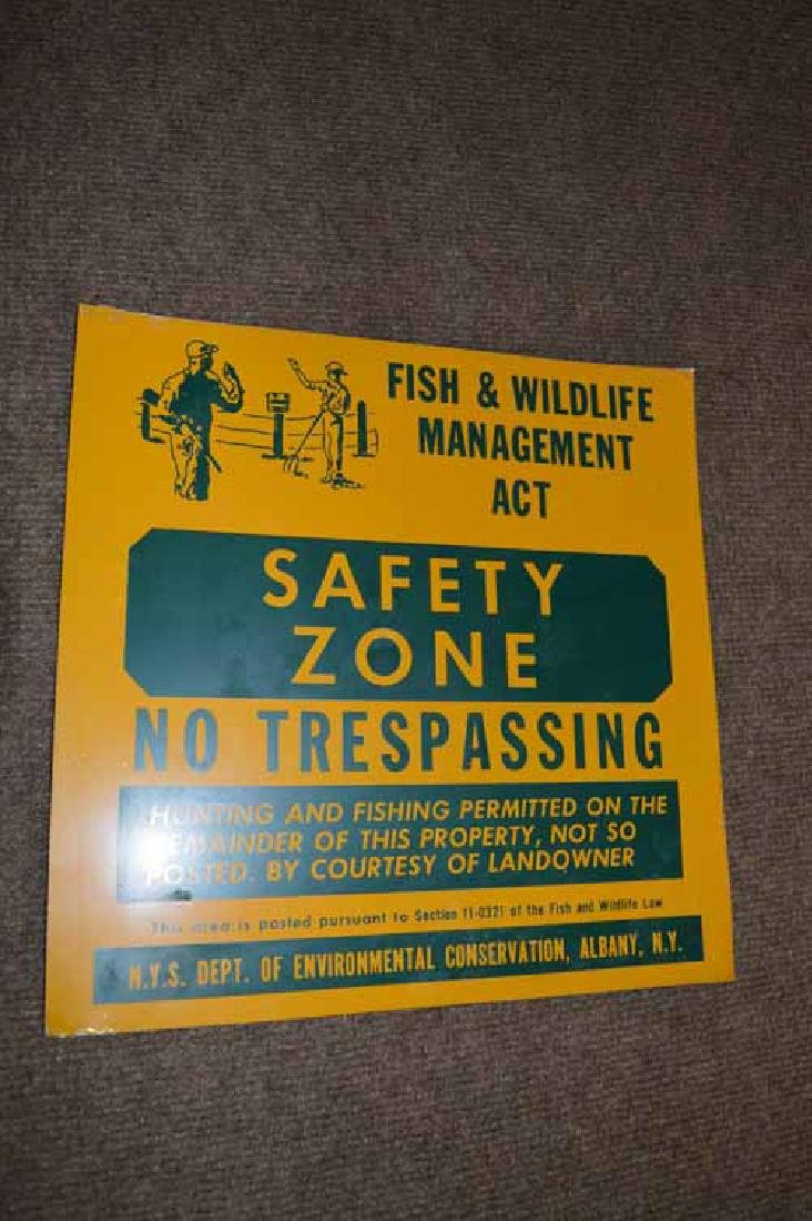 "New York Sate ""No Trespassing Safety Zone"" Sign"