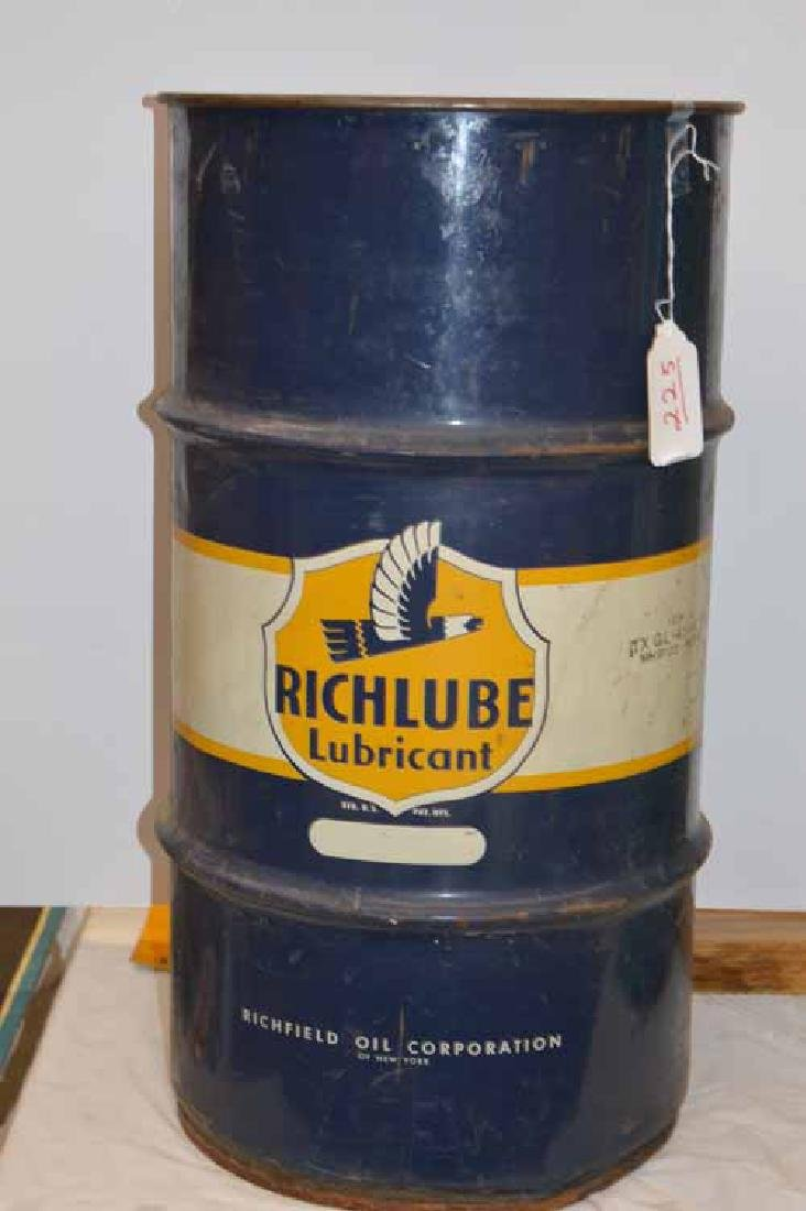 Richlube Lubricant Oil Drum, Richmond Oil Corp, New