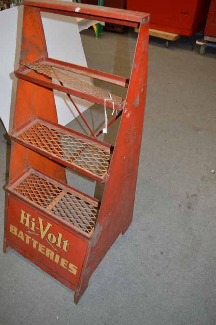 Hi-Volt Batteries Tin Display Rack - 2