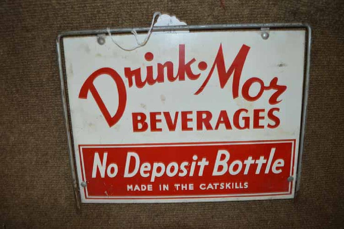 "Double Sided Metal ""Drink-Mor Beverages"" Display Rack"