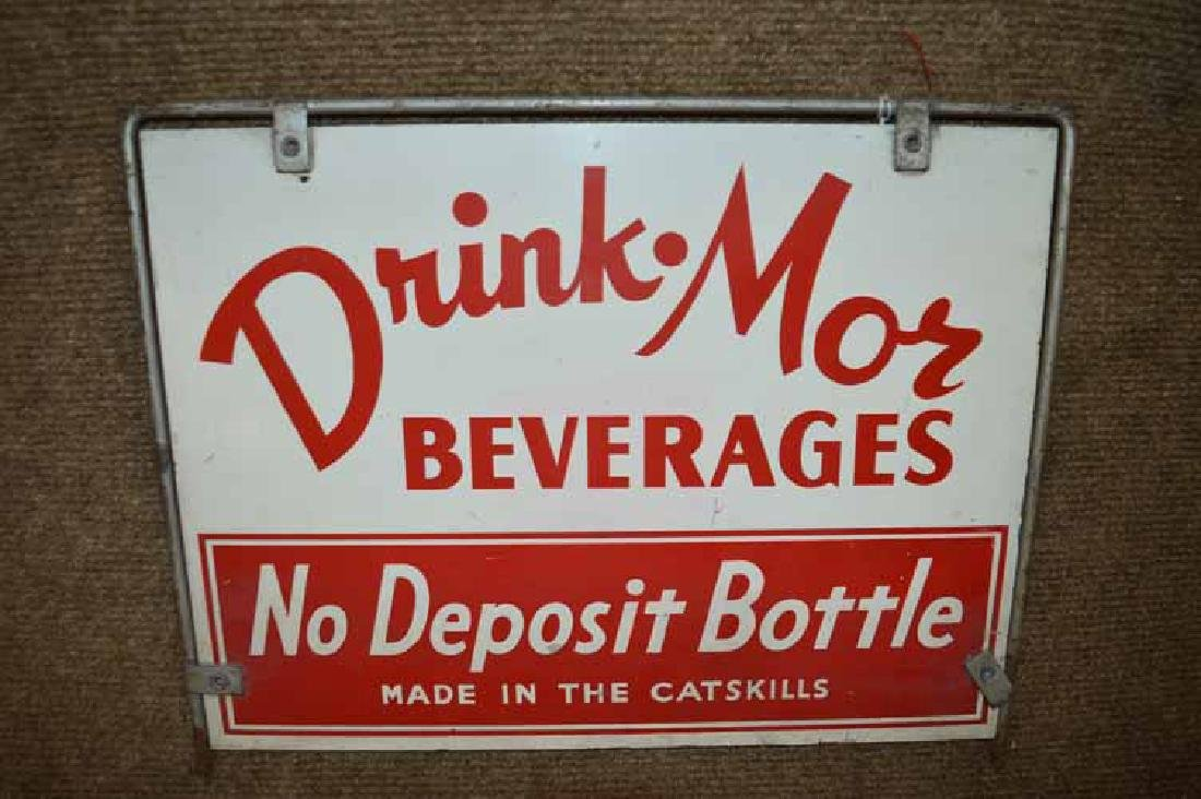 "Double Sided Metal ""Drink-Mor Beverages"" Display Rack - 2"