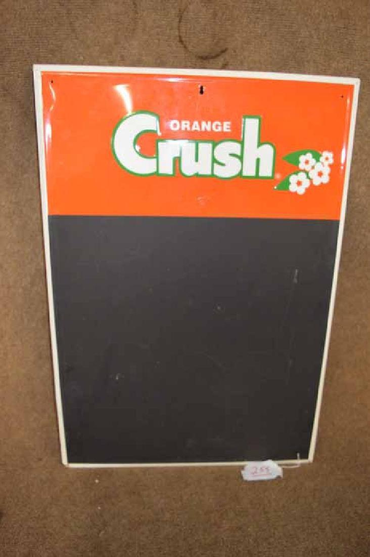 Orange Crush Tin Menu Board