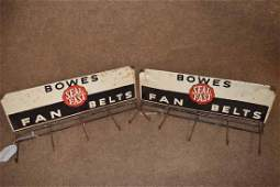 (2) Bowes Seal Fast Fan Belts Tin Display