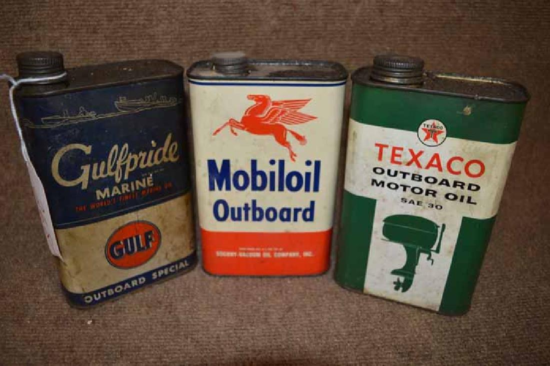 (3) 1 Qt. Metal Oil Cans