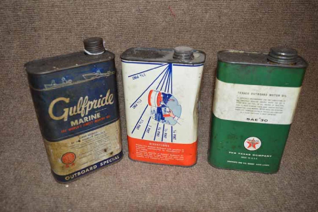(3) 1 Qt. Metal Oil Cans - 2