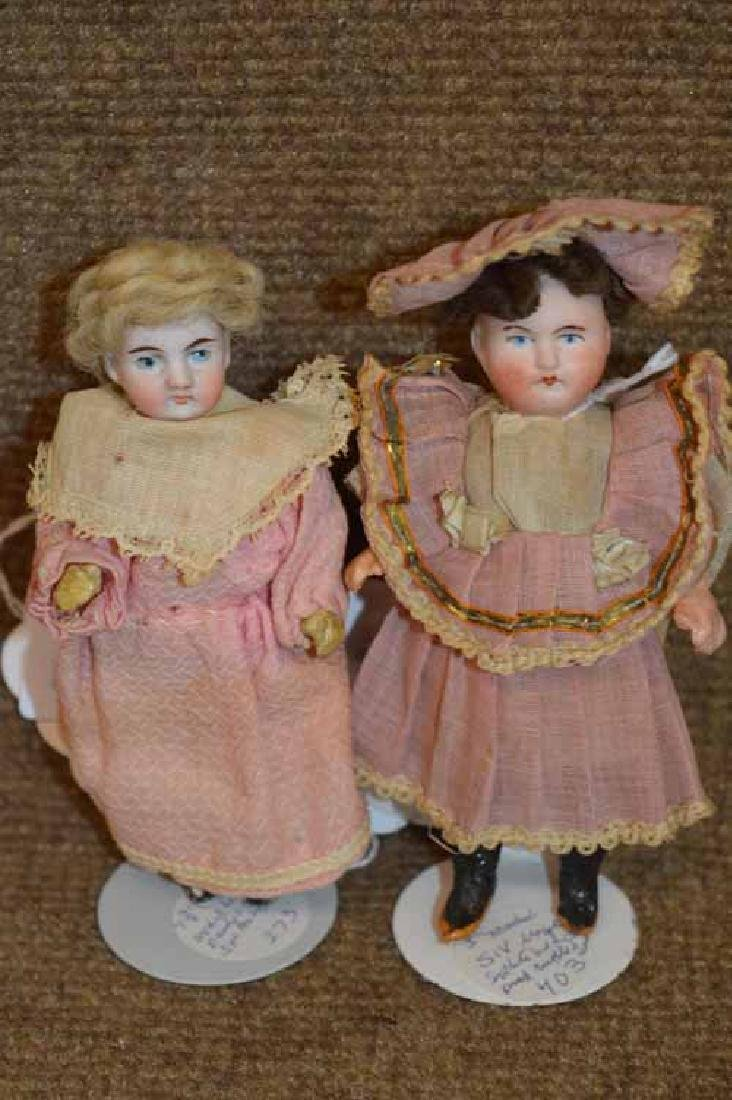 2 Small Bisque Head Dolls