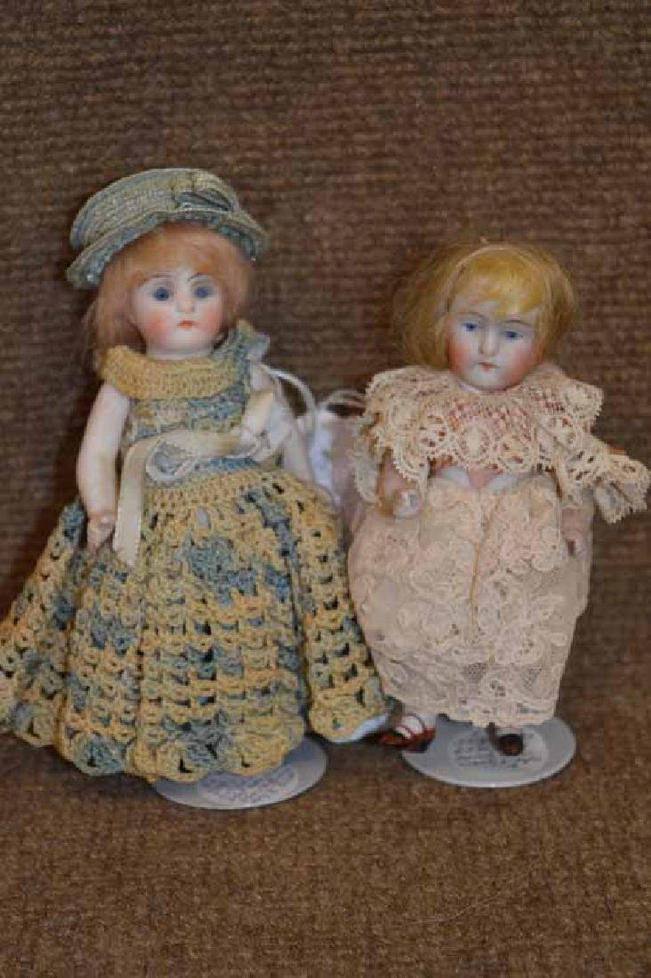 2 Small All Bisque Dolls