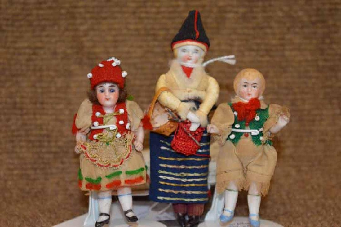 3 Small Bisque Dolls (1 Shoulder Head & 2 Kling All