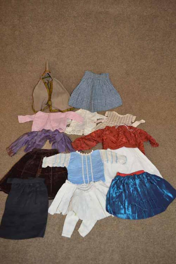 Box Lot of Antique Doll Clothing