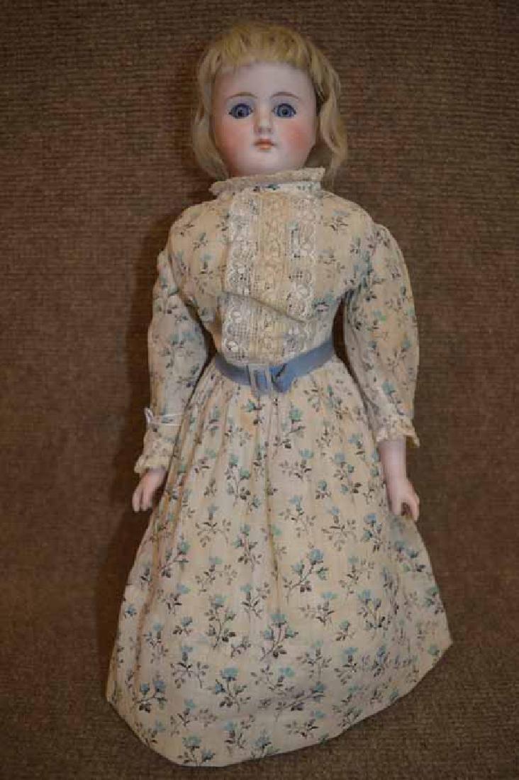 """13 1/2"""" Unmarked Bisque Shoulder Head Doll"""