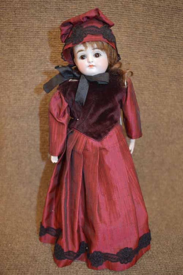 """12 1/2"""" KESTNER Turned Bisque Shoulder Head Doll"""