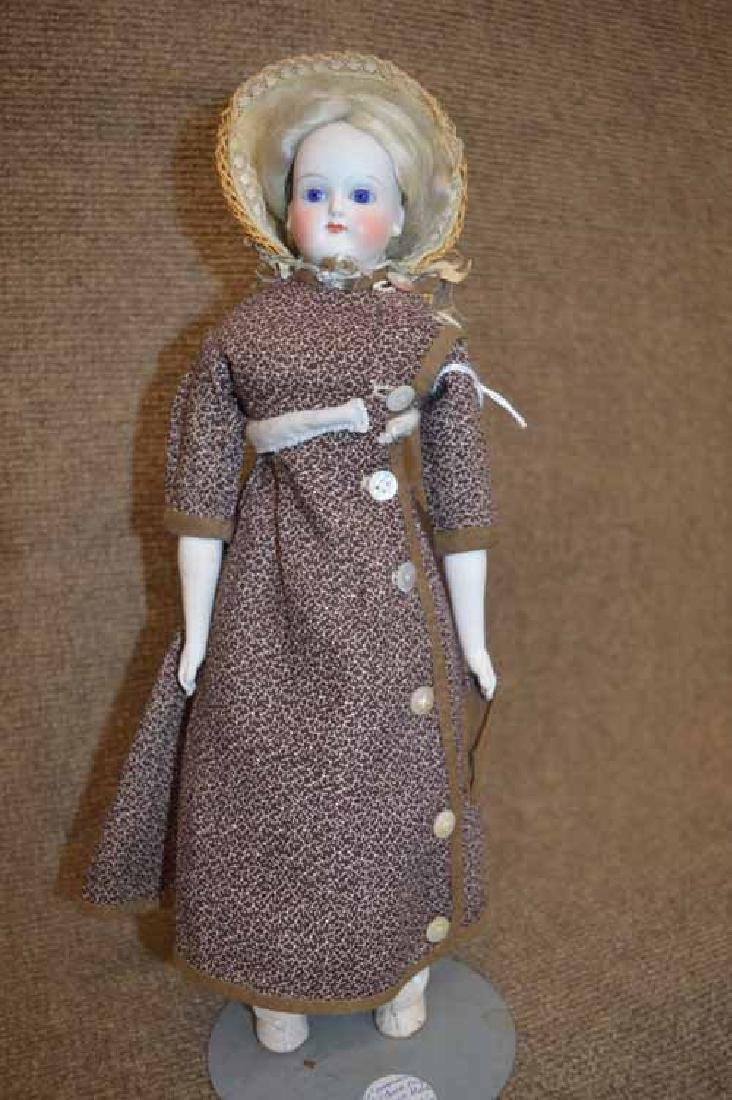 """12 1/2"""" Solid Dome Bisque Shoulder Head Doll"""