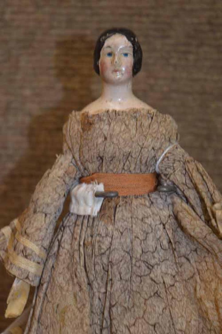 """7"""" MILLINERS Model Papier Mache Head Doll - 2"""