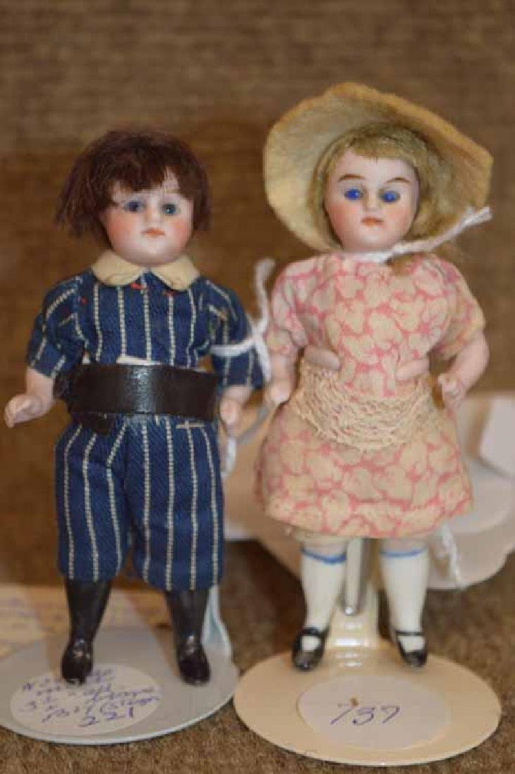 Two All Bisque Dolls