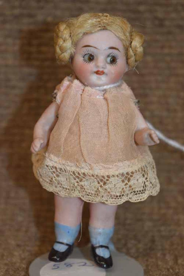 "3 1/2"" All Bisque Googly-Eyed Doll"