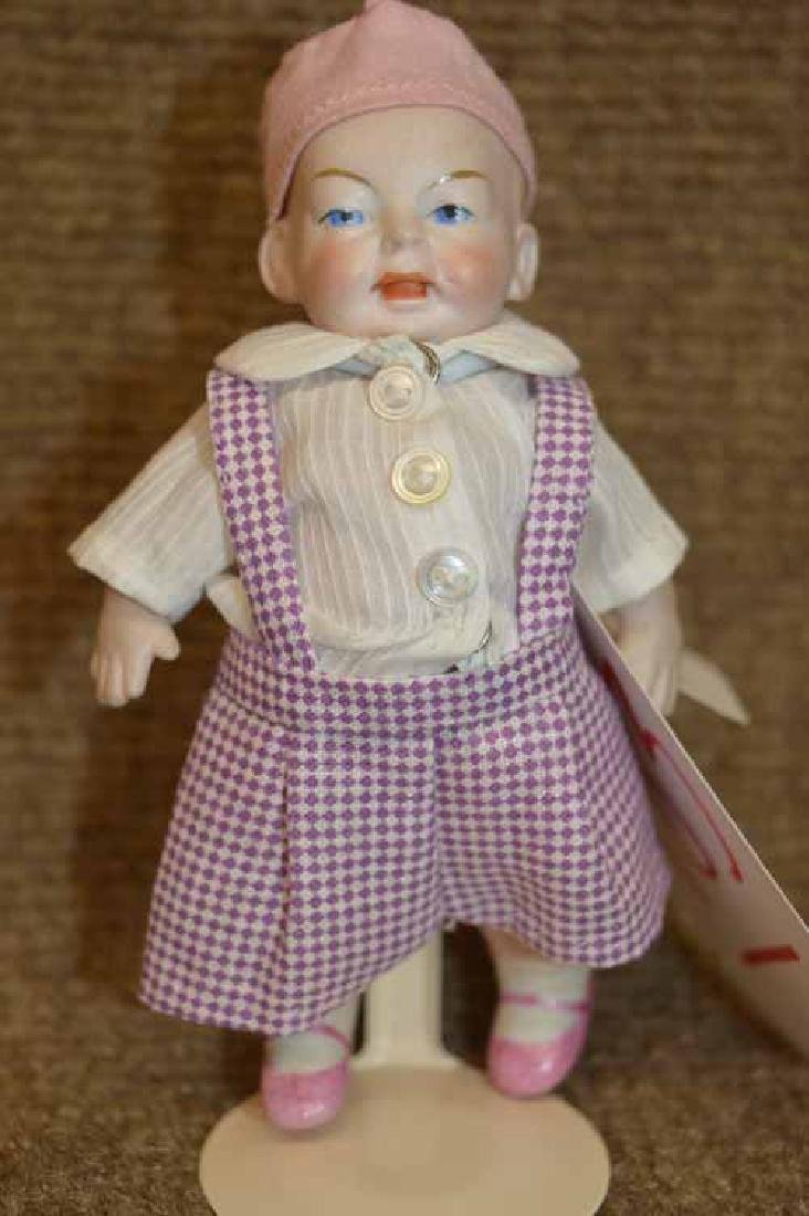 "4 1/2"" All Bisque Character Face Doll"