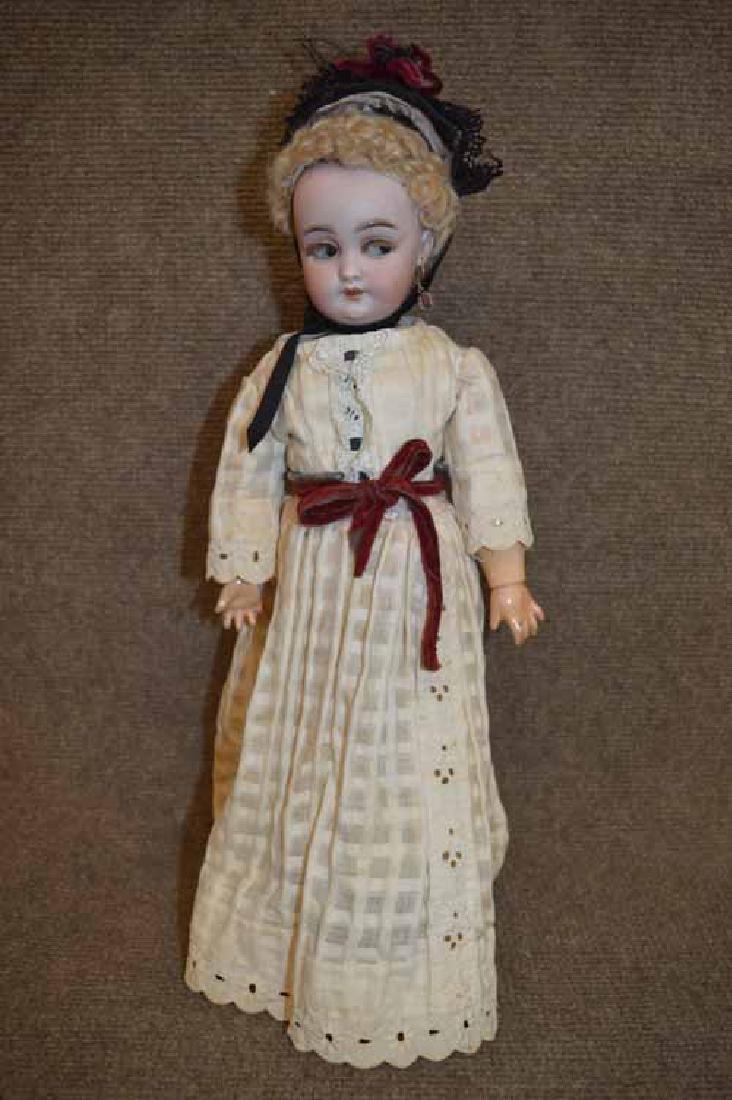 "15"" S & H 1039 Flirty Eye Bisque Doll"