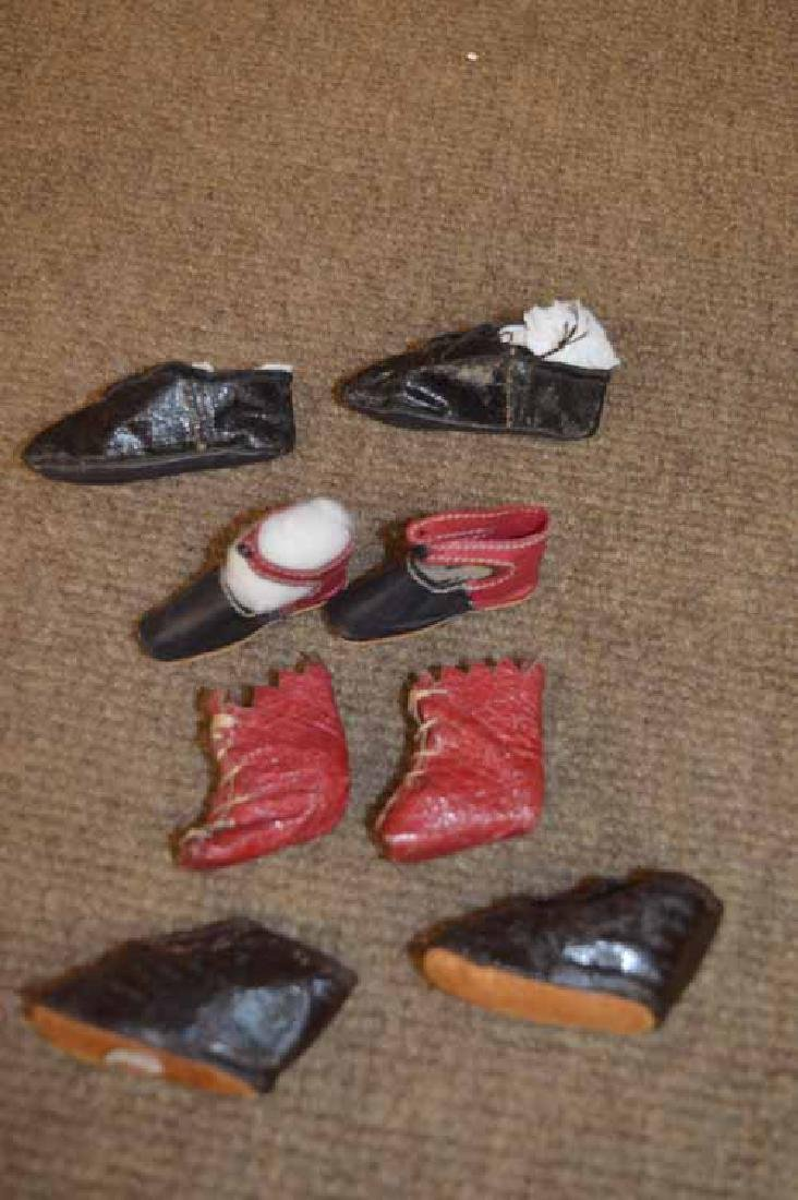 (4) Pr. Of Antique Shoes
