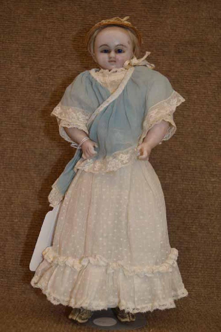 "13"" Wax Shoulder Head Doll"
