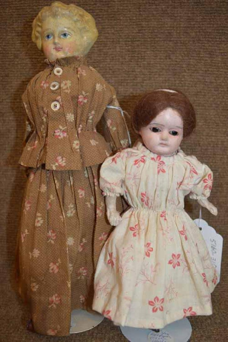 (2) Papier Mache Dolls