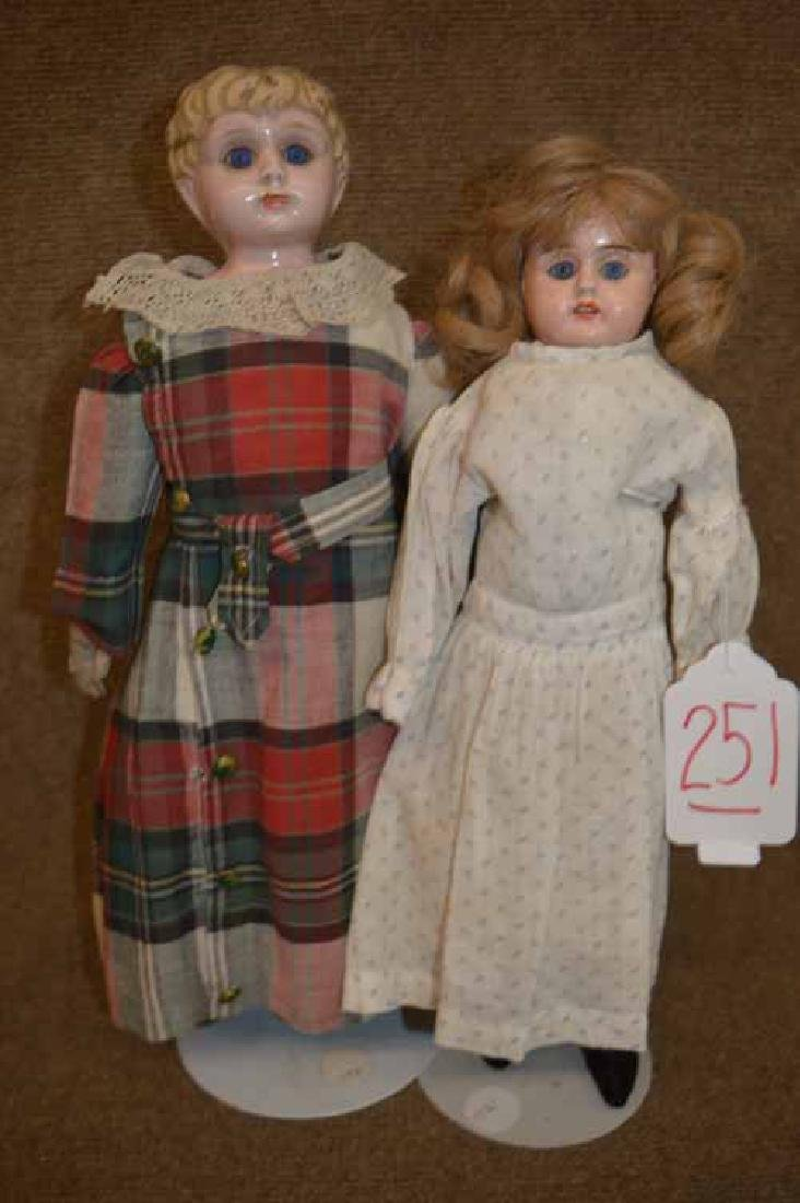 (2) Tin Head Dolls