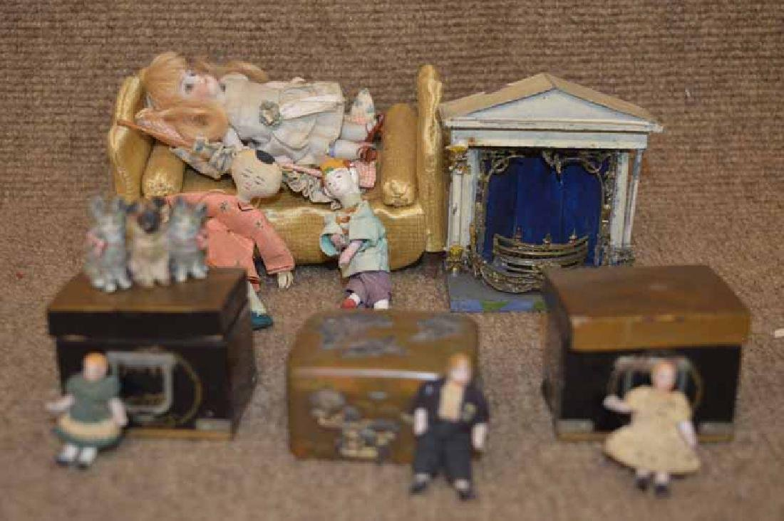 Box Lot of Doll & Doll House Items