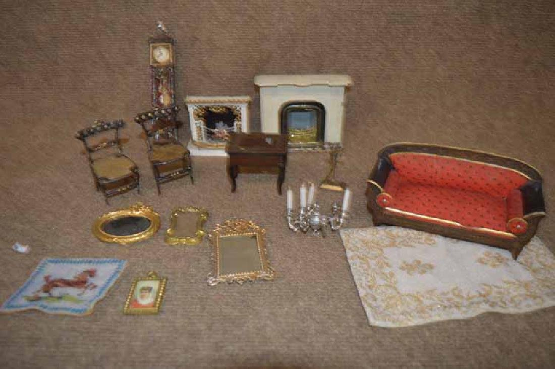 Box Lot of Doll House Items