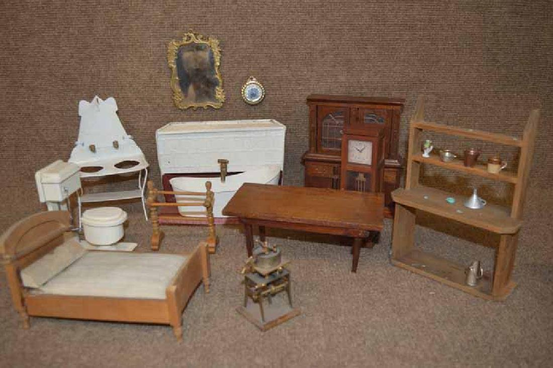 Group of Doll House Items