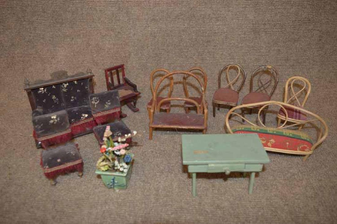 Group of Early Doll House Furniture
