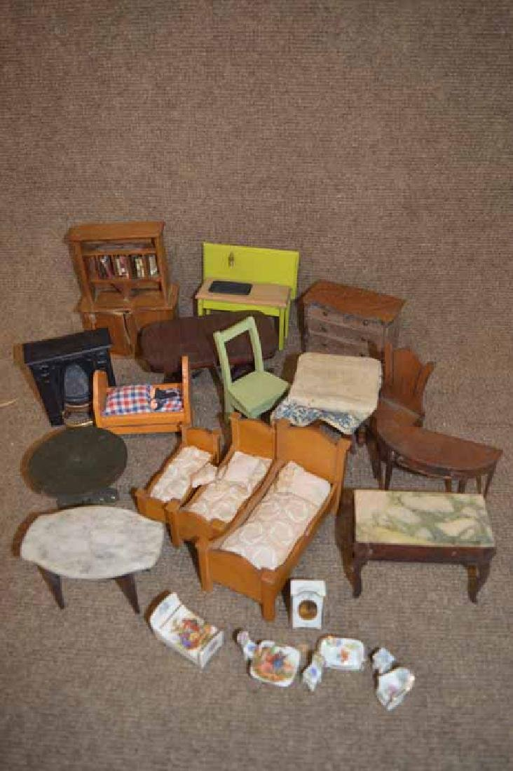 Group of Wooden Doll Furniture